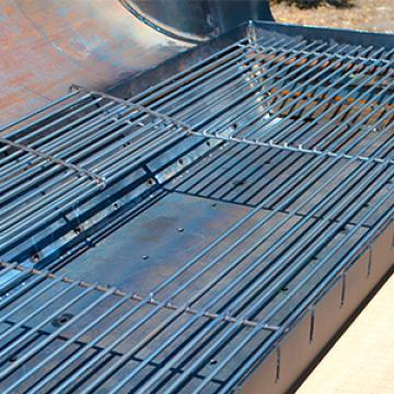 решетка гриль нержавеющей стали для приготовления на гриле и горячего копчения