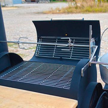Дополнительный вертел из нержавеющей стали для гриль-коптильни
