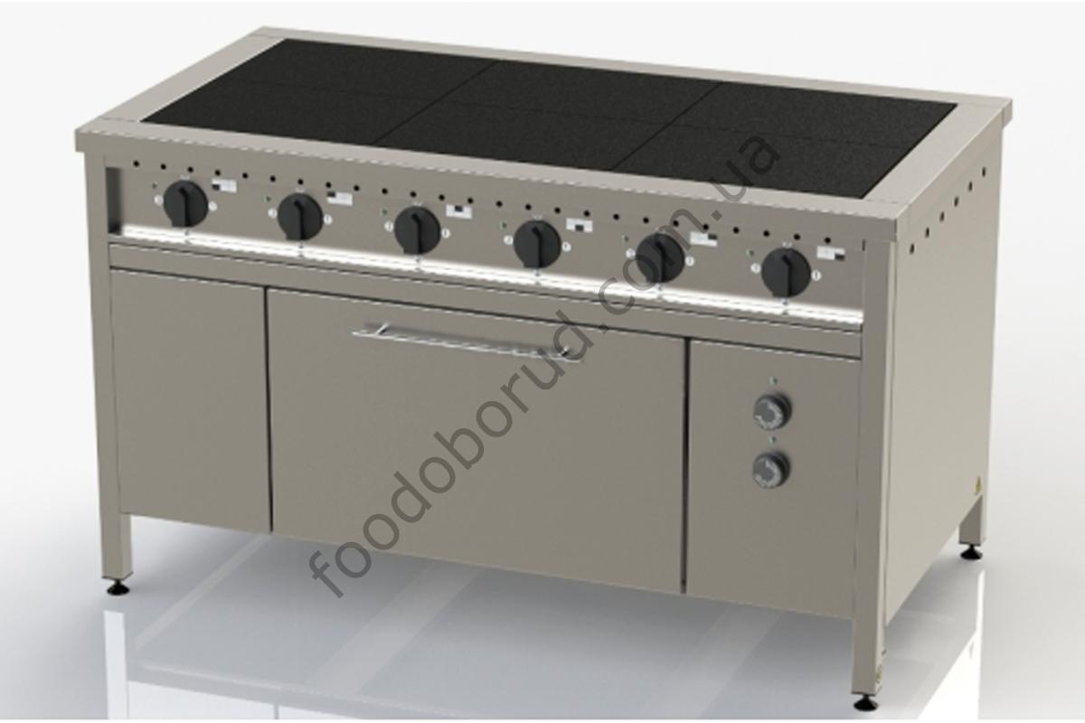 Плита электрическая промышленная 6-ти конфорочная с духовкой ЭП-6Д