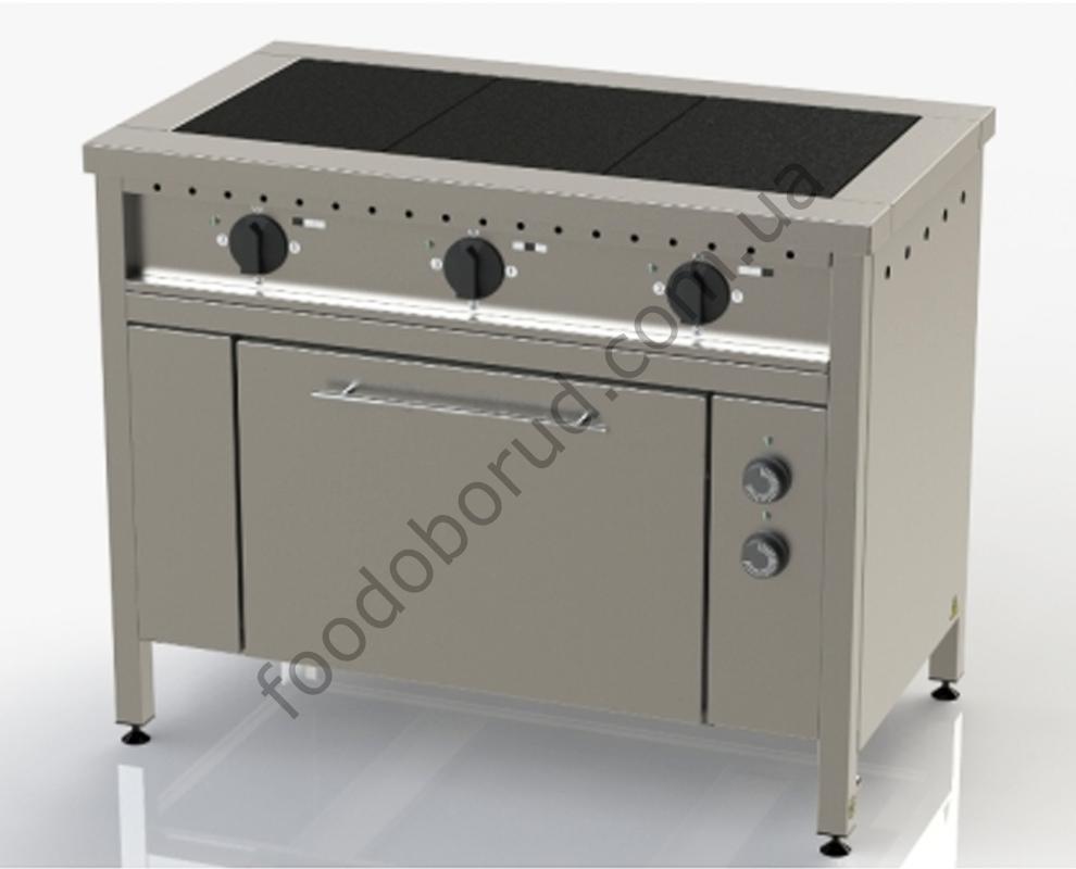 Плита электрическая промышленная 3-х конфорочная с духовкой ЭП-3Д