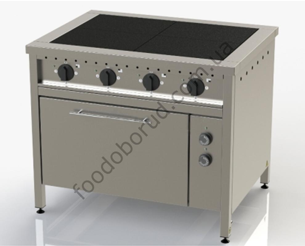 Плита электрическая промышленная 4-х конфорочная с духовкой ЭП-4Д