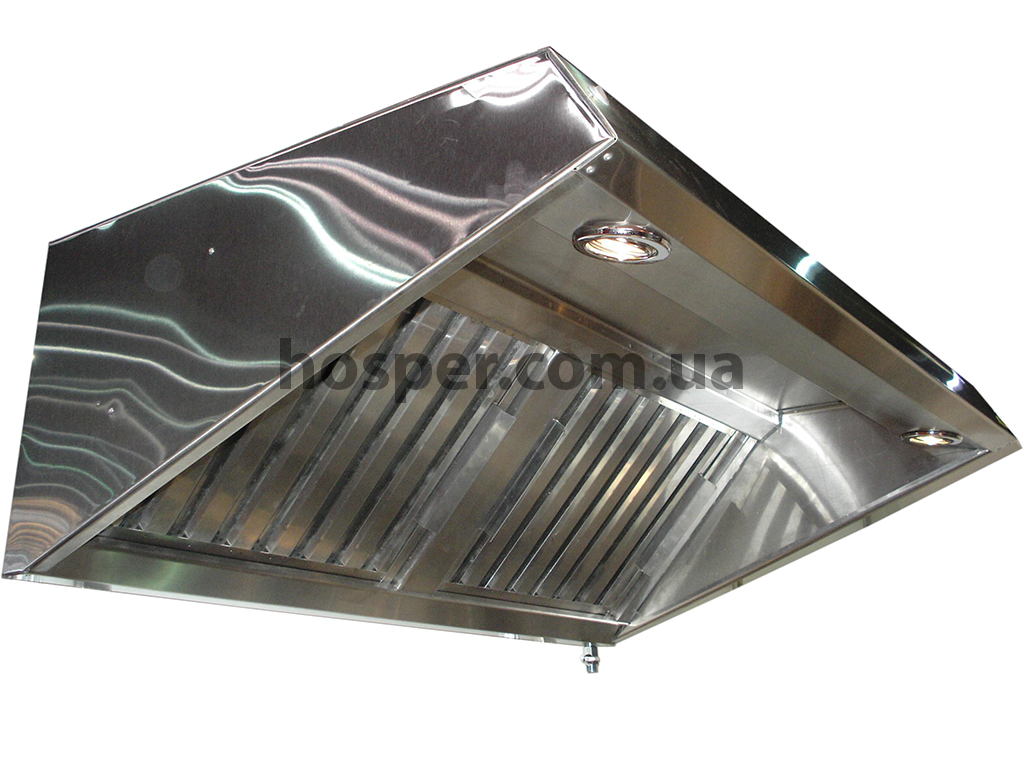 Промышленный пристенный вентиляционный Зонт с подсветкой