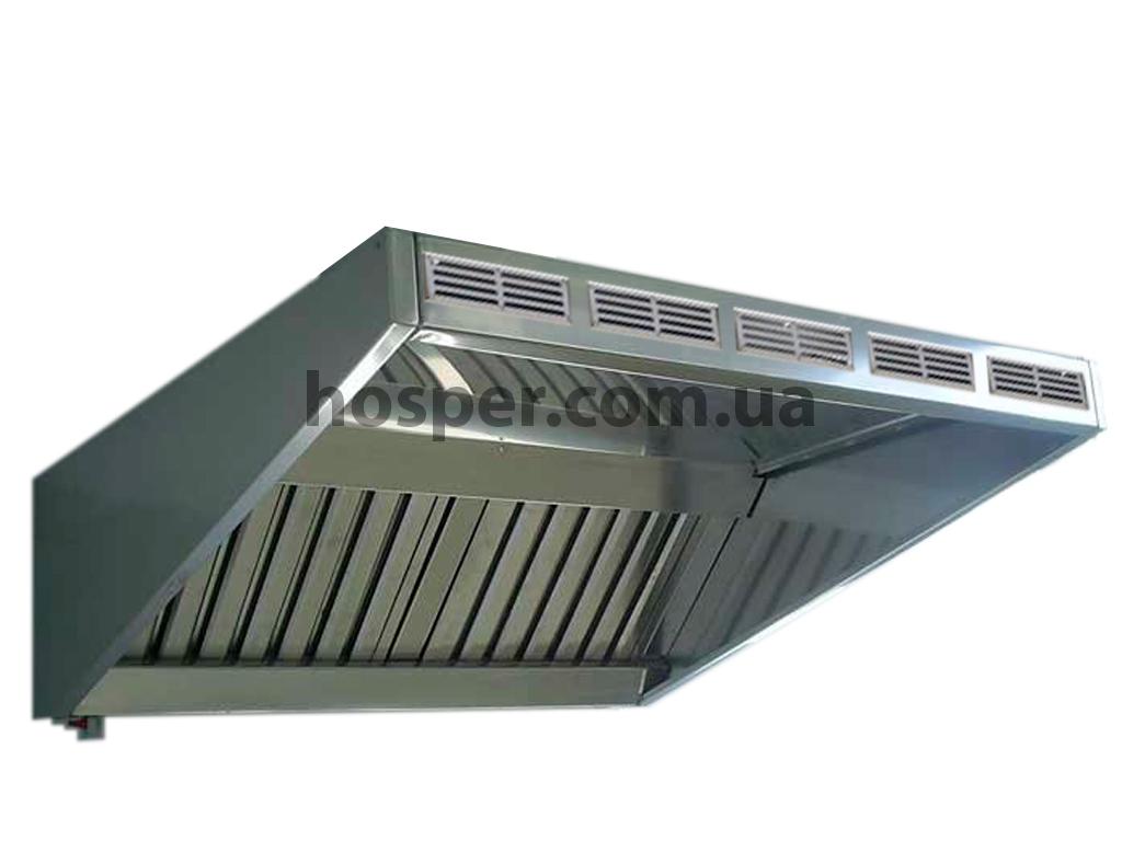 Зонт пристенный приточно-вытяжной для кухни, производство под заказ любых размеров в Украине цена 3773 грн.