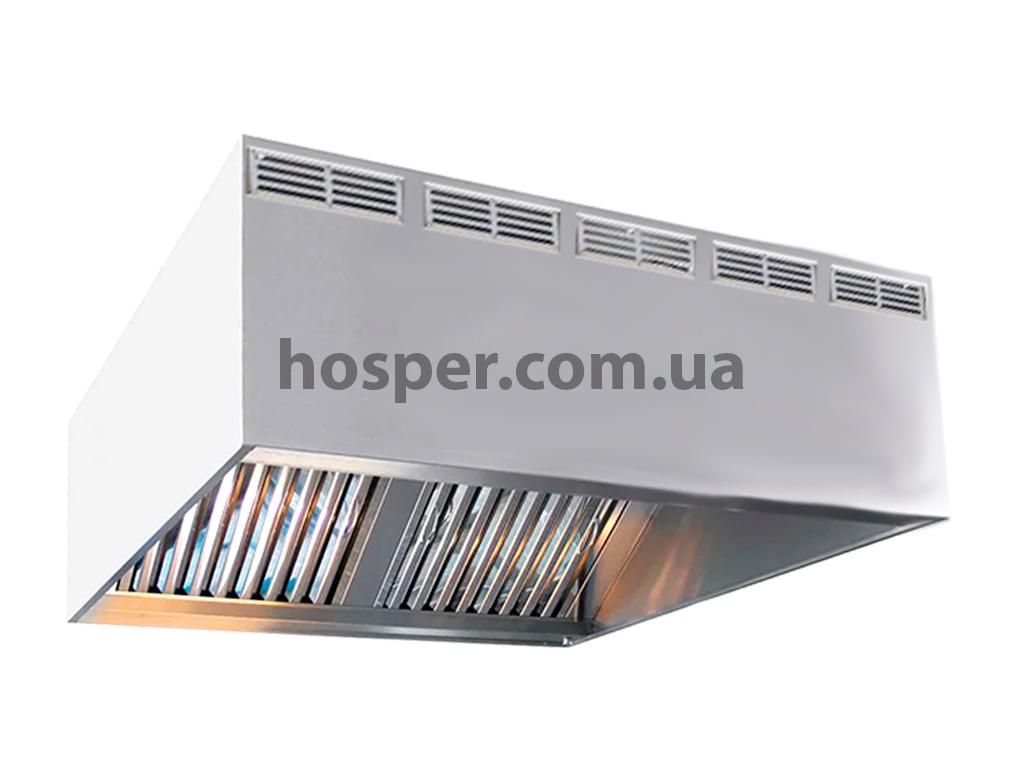 Зонт вытяжной купольный с приточкой для кухни, производство под заказ любых размеров в Украине цена 4527 грн.